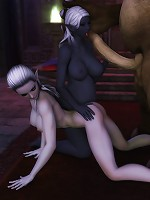 Passionate 3D Bitch showing her pussy and feeling 3D Ghoul