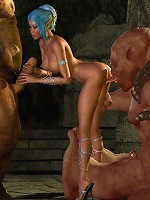 Parlourmaid getting fucked hard by Forest Giant