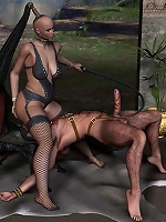 Filthy 3D Princess gets nailed by cock