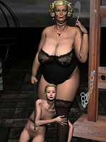 3D Boss getting fondled and getting off