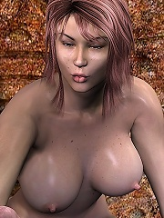 3D Peasant girl was fucked and takes cum facial