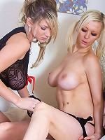 Lexy and Lucy Alexandra big tits fun and dildo fucking cunts