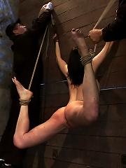 Brutal flogging and caning....