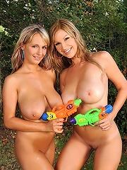 Carol &amp Jannete playing naked