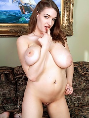 Gianna nelson loves playing with her big boulders and damp twat.