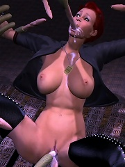 Virgin 3D Princess getting drilled by 3D Dude