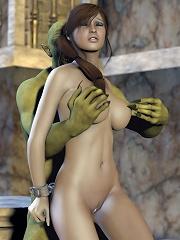 Innocent Dick girl screwed by 3D Cyclop