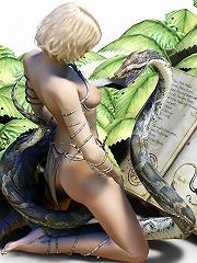 Titty Sorceress gets 3D master till gets tortured
