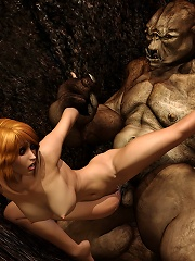 Perfect Chick riding on horny Demon then screwed with dildo