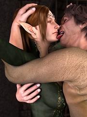 Secretary dominates and pleasures Toon Orc