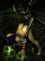 Sexy 3D Nun pleasuring forest elf