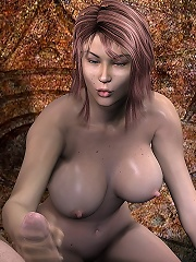 Cute 3D Chick is filled and getting covered in cum