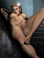 Kinky Babe with fat toy deepthroating and cumming