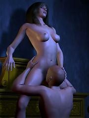 Ravishing Neko-girl getting caught and slammed