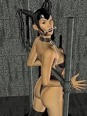 3D mistress loves schlong before plugged