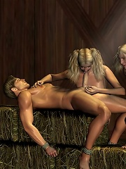 Blue eyed 3D Peasant girl craves Hentai Ghoul