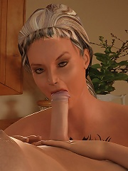 Lusty 3D Blonde getting boned and cumming