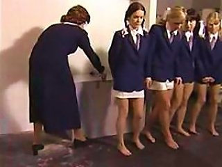 Headmaster Spanks The School's Naughtiest Girls