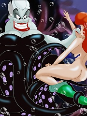 Young and beautiful Ariel has fallen into the clutches of the evil Ursula