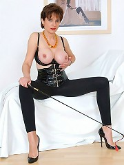 Mature busty in latex