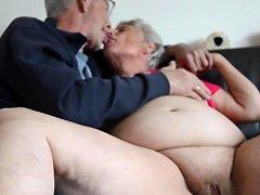 Fat Old Granny Kissing