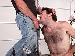 Hairy gay workers fucking hard in the ass