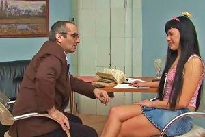 Olesya Tries To Charm Her Teacher Into Passing Her