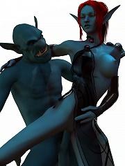 3D SuperGirl gets naked and massages schlong