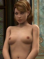 3D Priestess gets tiny snatch jizzed in jizz