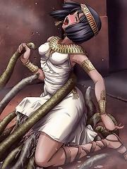 BOSS got her ass filled by dark eyed Hentai master