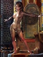 Pretty 3D Bitch gets her tight ass bent over