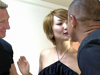 Extremely Hot Japanese Pleases Two Guys In Amazing Threesome