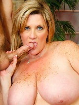 Chubby mama takes a big cock up her juicy pink