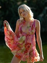 Zemani.com Mila - Fantastic blond Mila shows her perfect body near a lake.