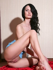 Skinny tall small titted and sexy brunette Katerina