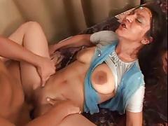 Sweaty Indian MILF Big Saggy Tits