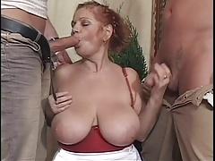 Big Tit BBW Granny Mathilda Gets Two Young Dicks