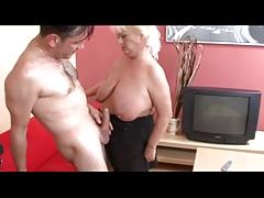 Blonde Large Hangers BBW-Granny hard fucked