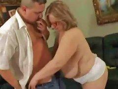 Huge Natural Tits Mom Fucks Younger Guy