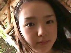 Busty Japanese cutie Ai Shinozaki performs her boobs