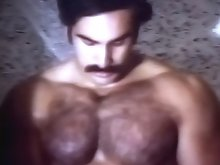 Big muscled man cleaning his hot & huge cock in the shower