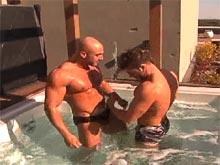 Two muscle gay men fucking