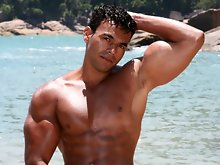 Poax is a hot, sexy Brazilian bodybuilder who loves the outdoors. He may be straight but that doesn&rsquo