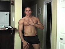 Hot muscle dude Colton Davis video