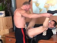 Gay military recruit forced to impress the drill instructor with his mouth