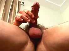 Kevin Miles strokes his cock