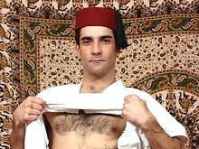 Hairy muscled arabian dick