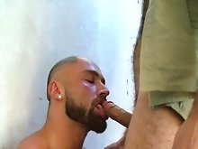 Gorgeous muscle hunk Francois Sagat stumbles into an abandoned bombed-out building to find Said playing with his thick manly chest hair. Francois eage