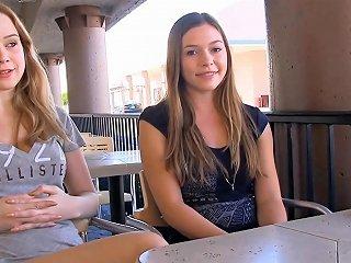 Teens Flashing Boobs In Restaurant