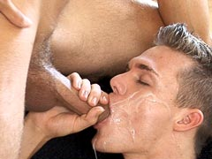 Free gay movie of sexy hunky boy gets fucked with several dicks and mouthful of cum